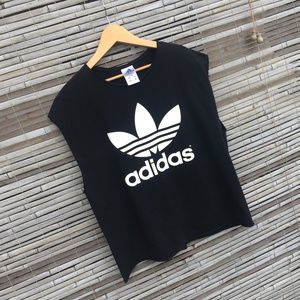 ADIDAS . DOUBLE LOGO . MUSCLE TANK . MODIFIED . LG